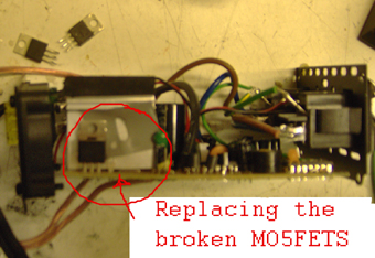 Switching out the MOSFETS